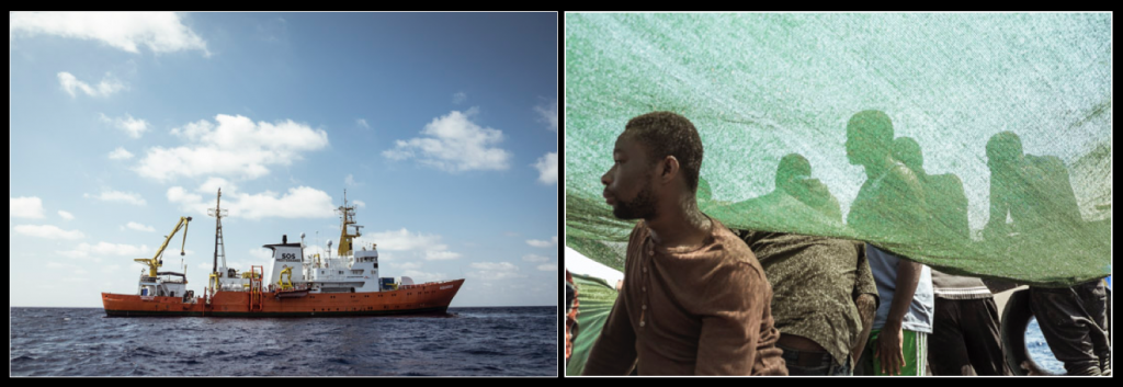 Images from the refugee crisis in the Mediterranean, from a humanitarian rescue boat.