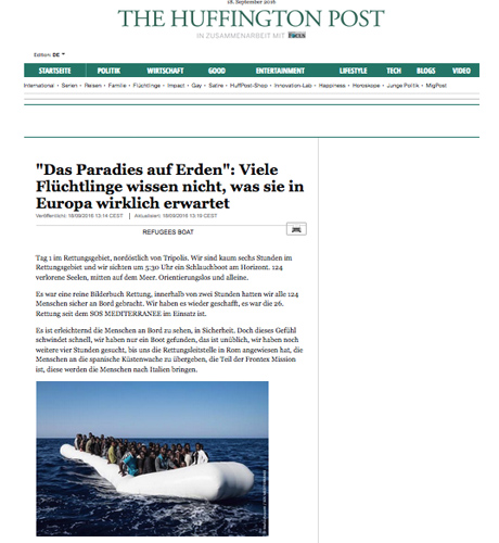 Marco Panzetti's photographs publication in The Huffington Post
