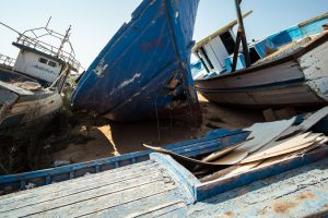 Lampedusa's boats graveyard, August 2016.