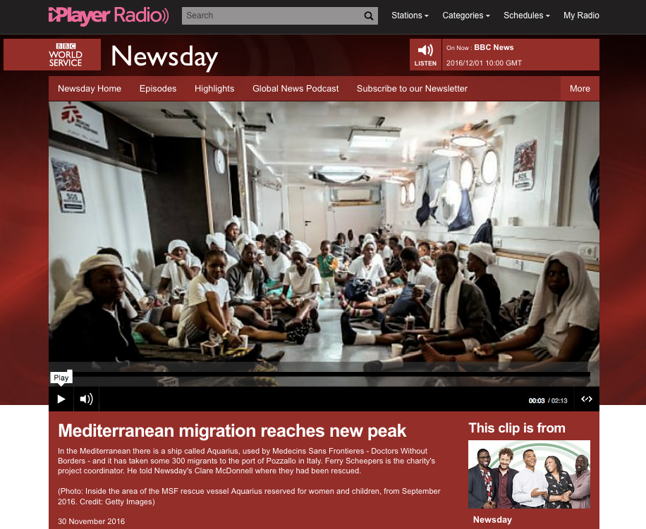 Marco Panzetti's photographs publication in BBC World Service