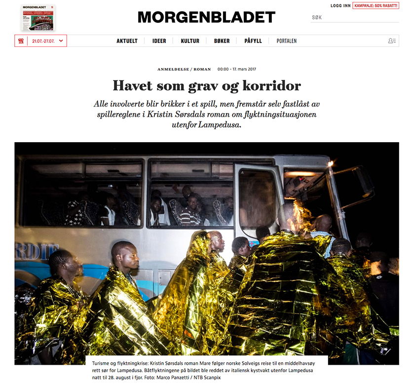 Marco Panzetti's photographs publication in Morgenbladet
